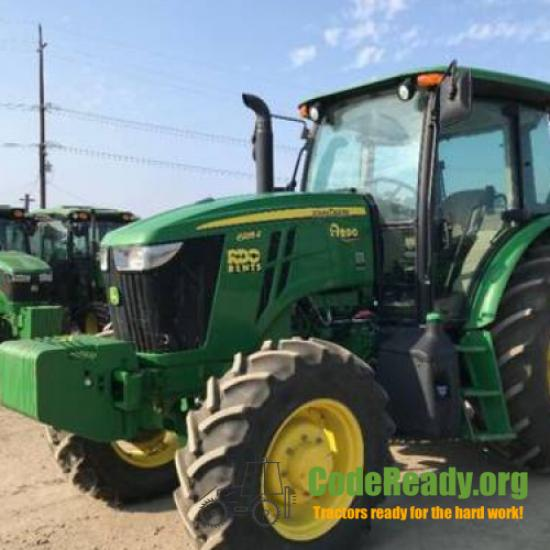 Used 2018 John Deere 6135E for Sale